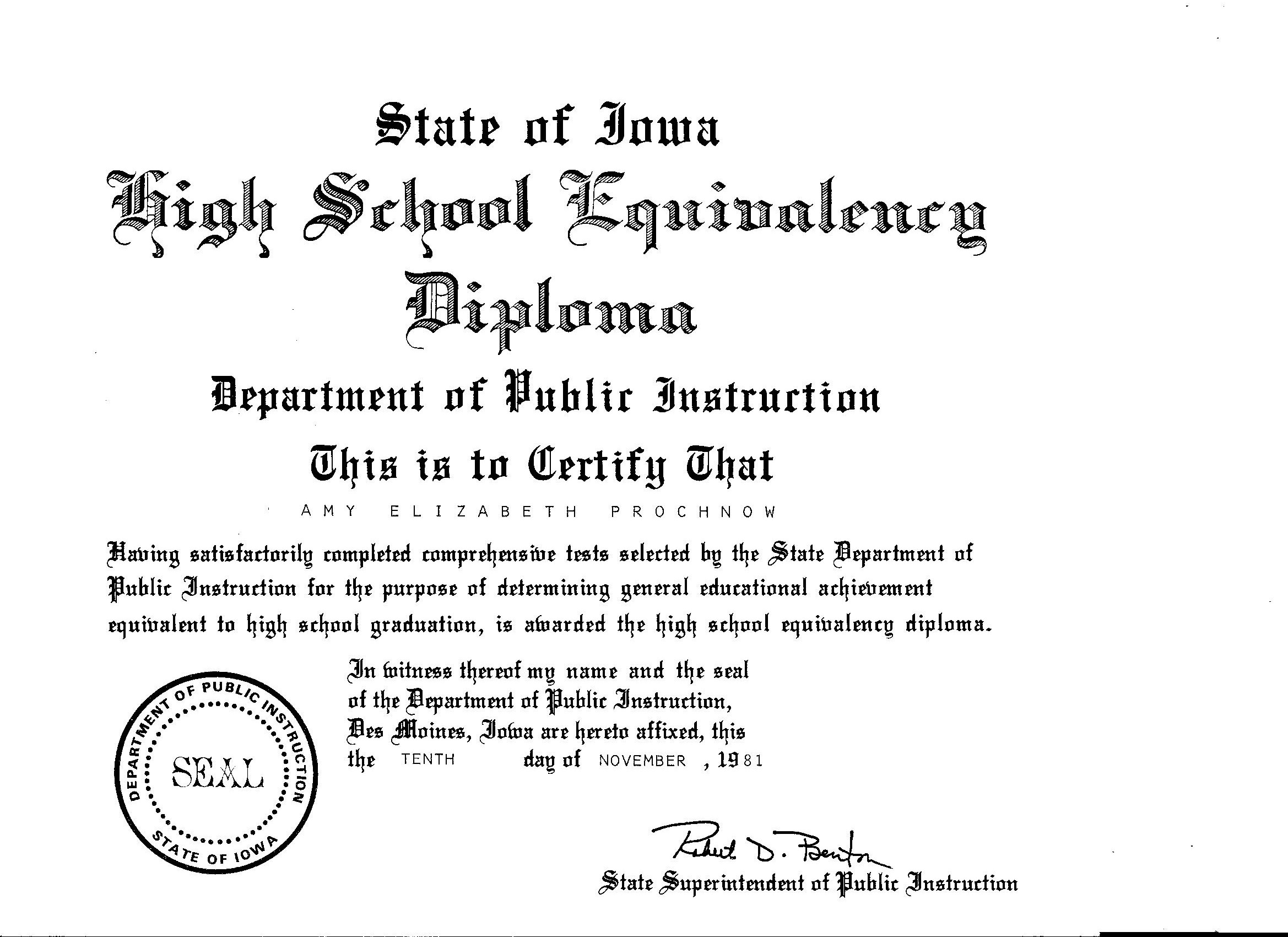 Great High Diploma Template With Seal Pictures 35 High School
