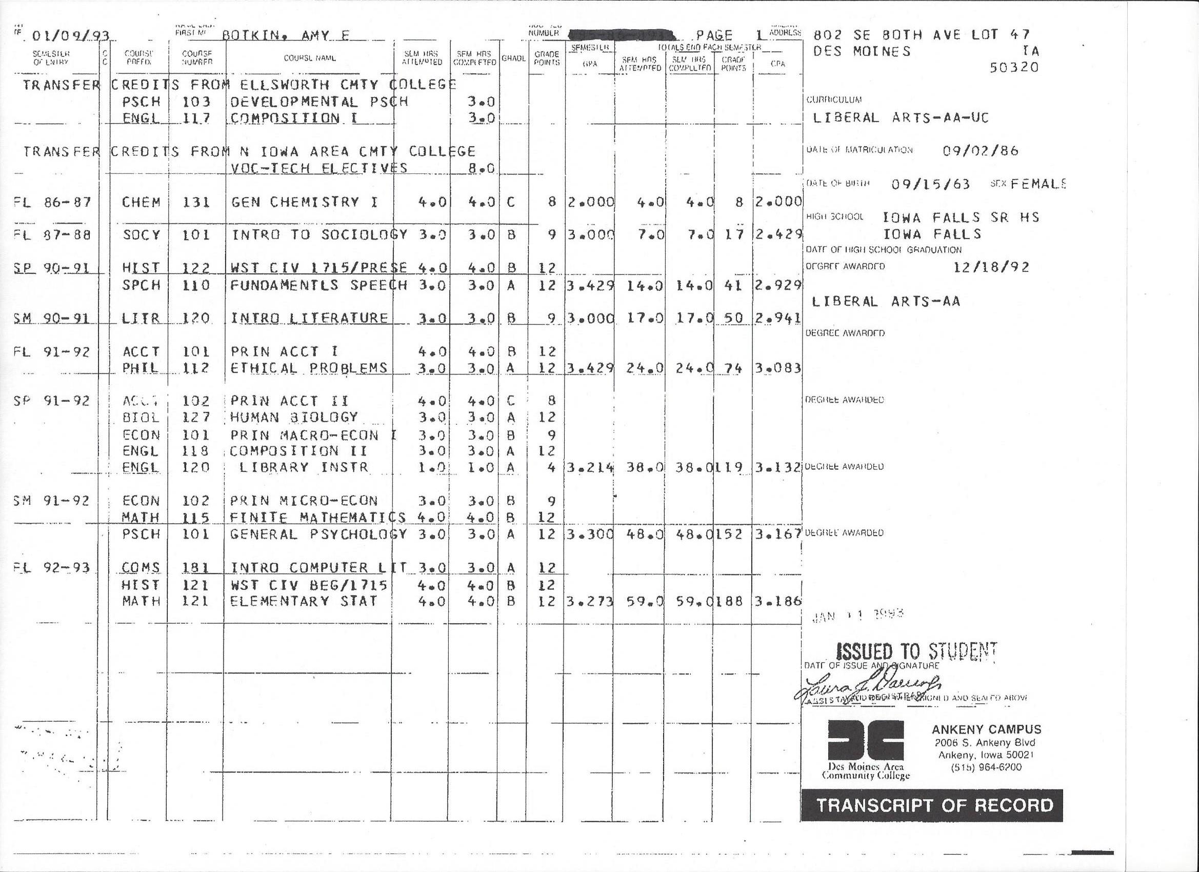 DMACC Transcripts