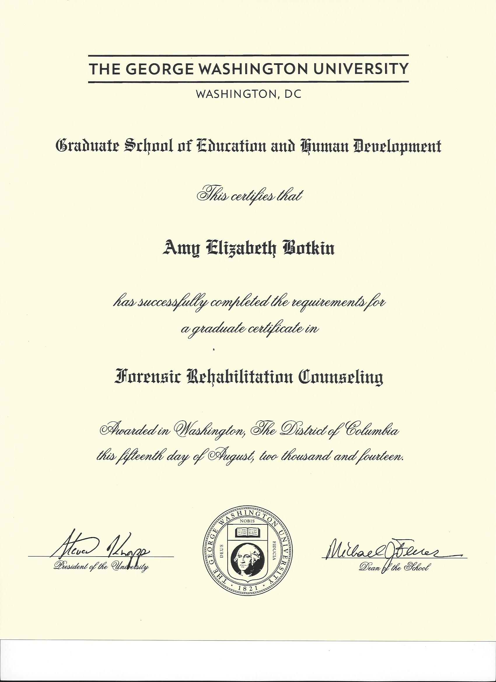 It Finally Arrived! My Forensic Rehabilitation Counseling Graduate ...