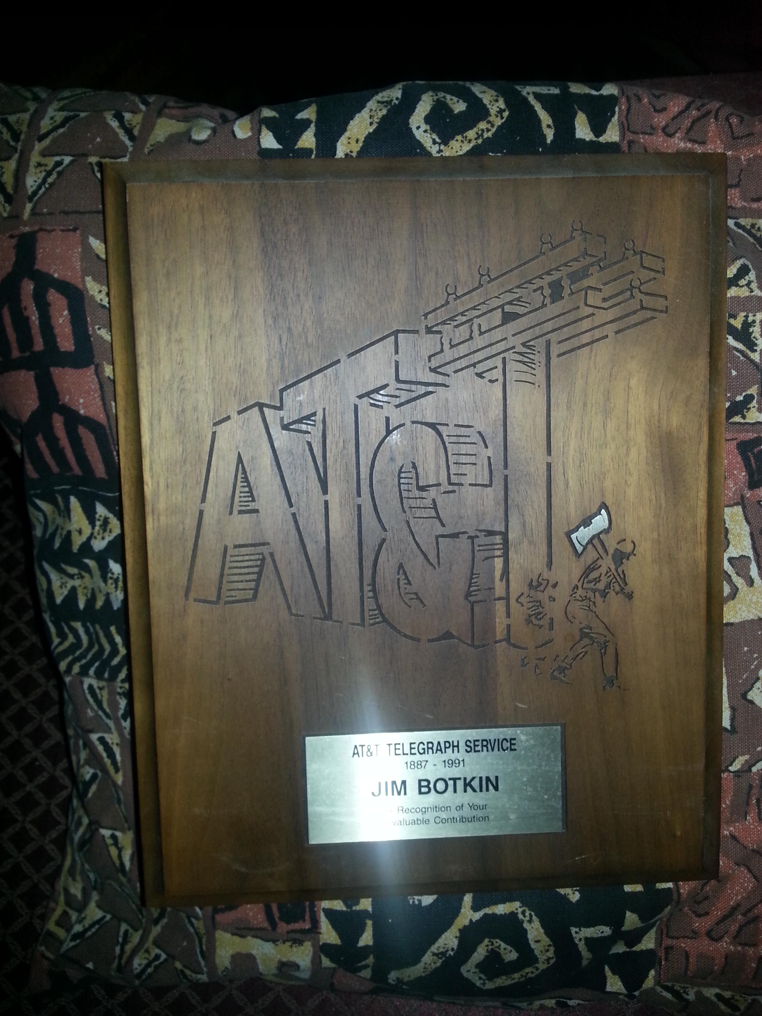 AT&T Jim Botkin 30 Years